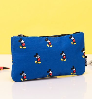 Loungefly x Disney Mickey Mouse Print Blue Pouch