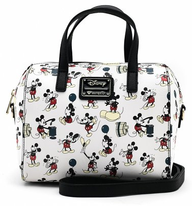 Loungefly x Disney Mickey Mouse True Original Print Duffle Bag