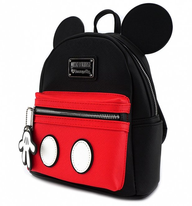 Loungefly x Disney Mickey Suit Mini Saffiano Faux Leather Backpack