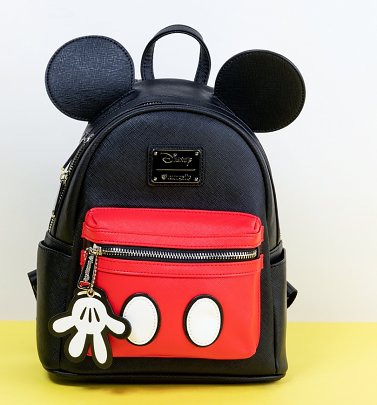Loungefly Disney Mickey Suit Mini Saffiano Faux Leather Backpack