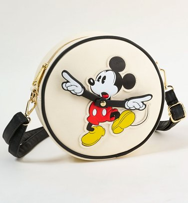 Loungefly x Disney Mickey True Original Clock Arms Crossbody Bag