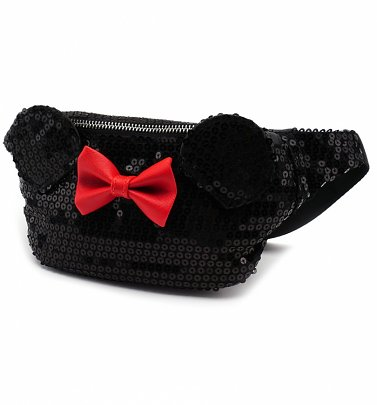 Loungefly x Disney Minnie Mouse Black Sequin Bumbag