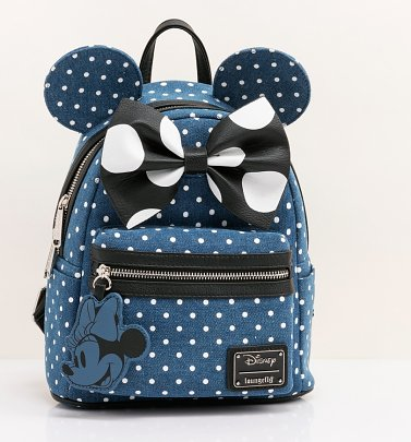Loungefly Disney Minnie Mouse Denim Backpack