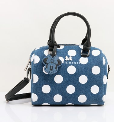 Loungefly Disney Minnie Mouse Denim Crossbody Bag
