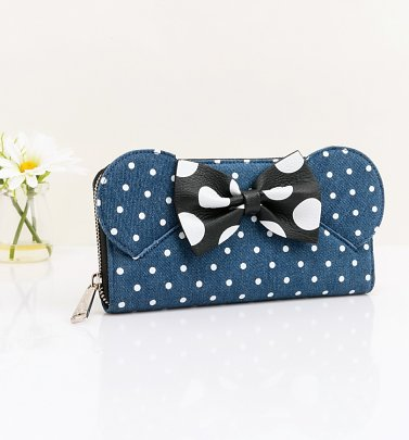 Loungefly x Disney Minnie Mouse Denim Wallet With Ears