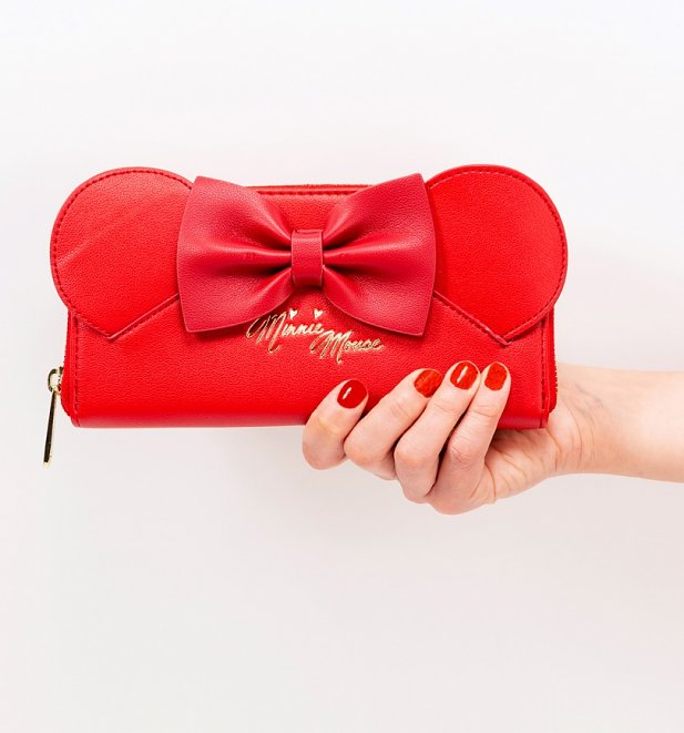 Loungefly x Disney Red Minnie Mouse Ears And Bow Wallet