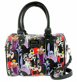 Loungefly x Disney Villains All Over Print Duffle Bag