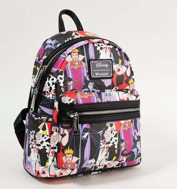 Loungefly x Disney Villains Full Colour Print Mini Backpack