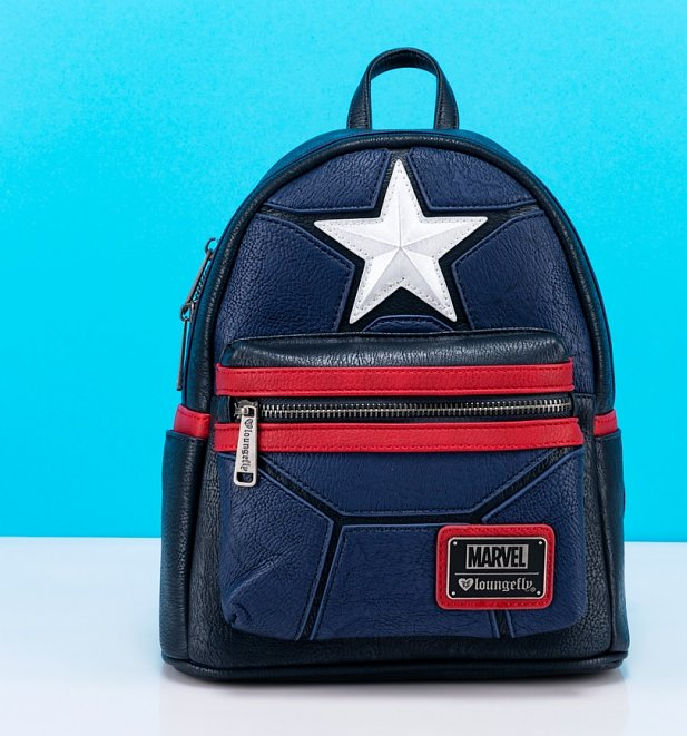 Loungefly x Marvel Captain America Cosplay Mini Backpack
