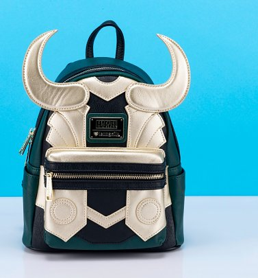 Loungefly Marvel Loki Cosplay Mini Backpack