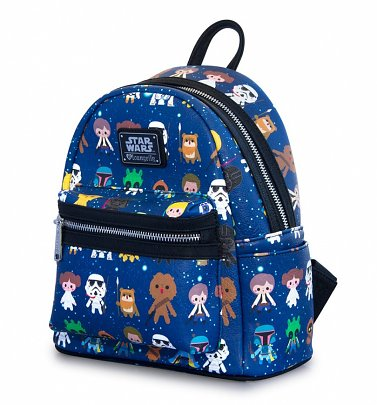 Loungefly x Star Wars Baby Character Print Mini Faux Leather Backpack