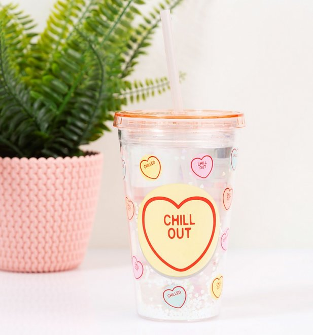 Love Hearts Cup With Straw