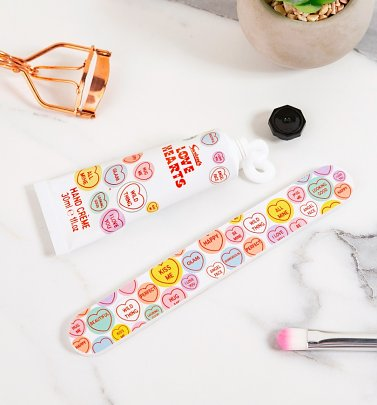 Love Hearts Hand Cream And Nail File Duo Gift Set