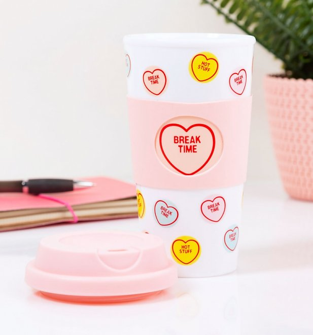 Love Hearts Travel Mug