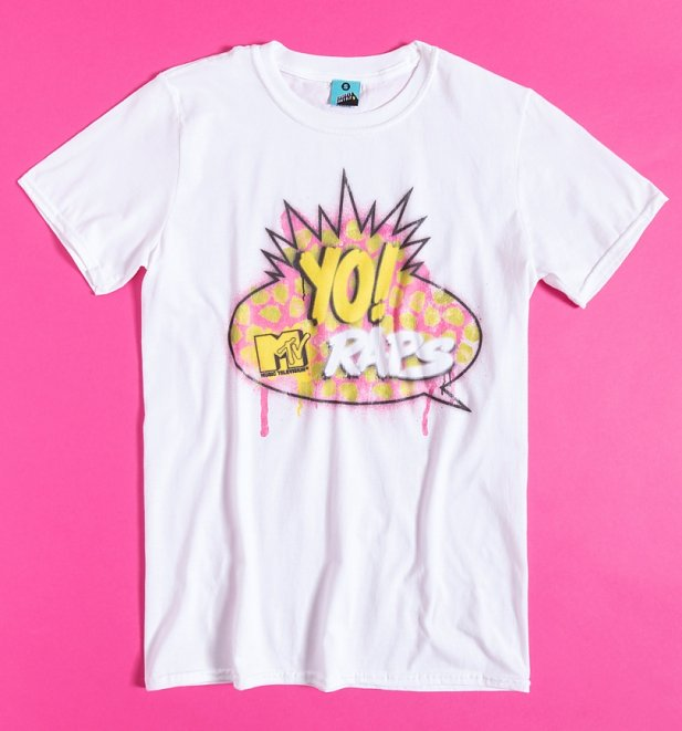 MTV Raps Logo White T-Shirt