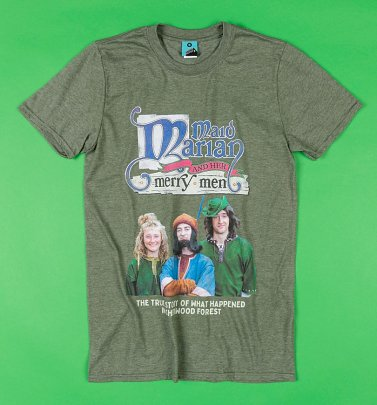 Maid Marian And Her Merry Men Military Green T-Shirt