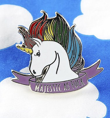 Majestic As F*** Einhorn Emaille Pin Anstecknadel von Punky Pins