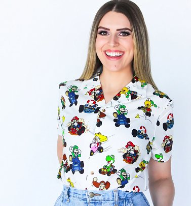 Super Mario Kart Button Up Shirt from Cakeworthy