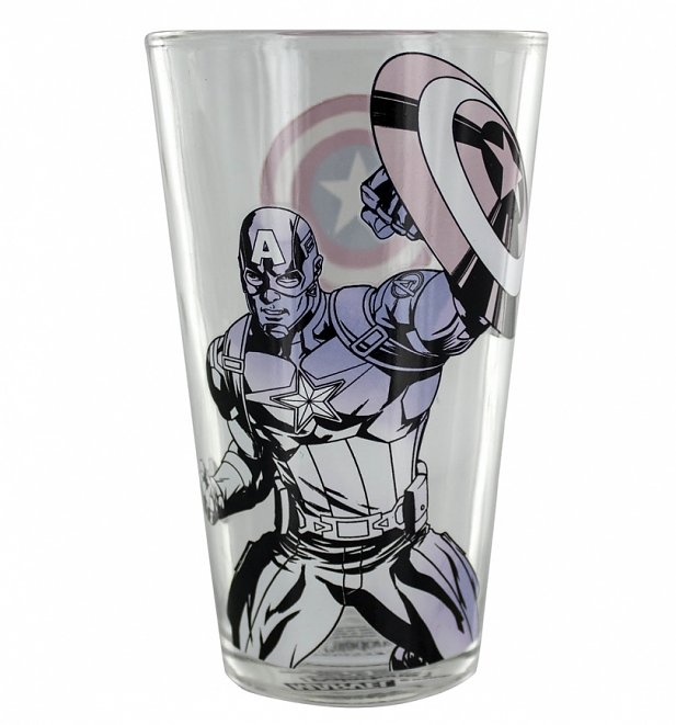 Marvel Comics Captain America Colour Change Glass
