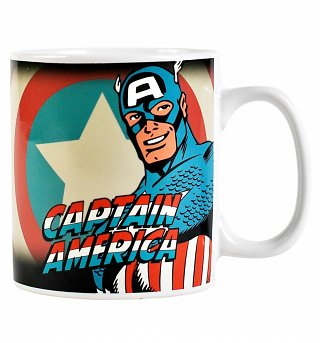 Marvel Comics Captain America Heat Changing Mug