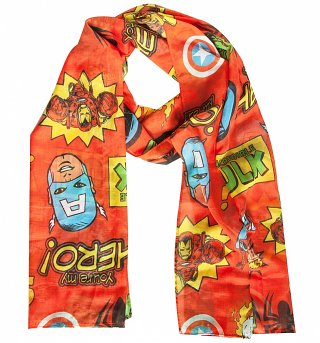 Marvel Comics Characters Lightweight Scarf