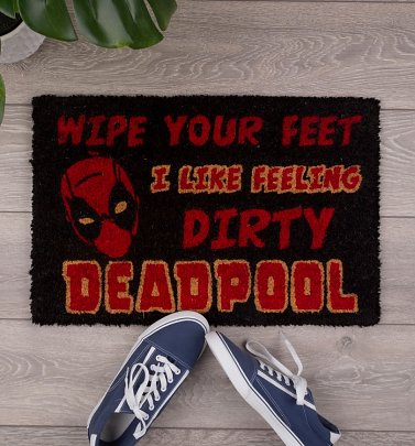Marvel Comics Deadpool Wipe Your Feet Door Mat