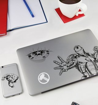 Marvel Comics Gadget Decals