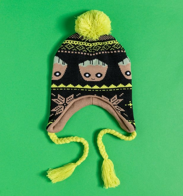 Marvel Comics Groot Knitted Laplander Hat from Difuzed