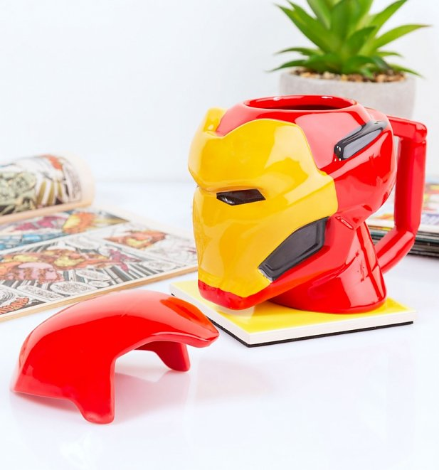 Marvel Comics Iron Man 3D Heat Change Mug With Lid