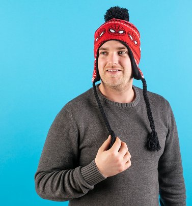 Marvel Comics Spider-Man Knitted Laplander Hat from Difuzed