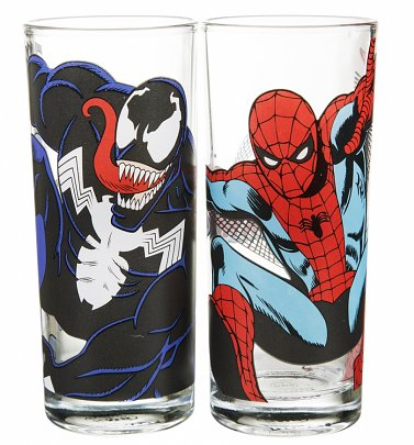 Marvel Comics Spider-Man Set Of 2 Glasses