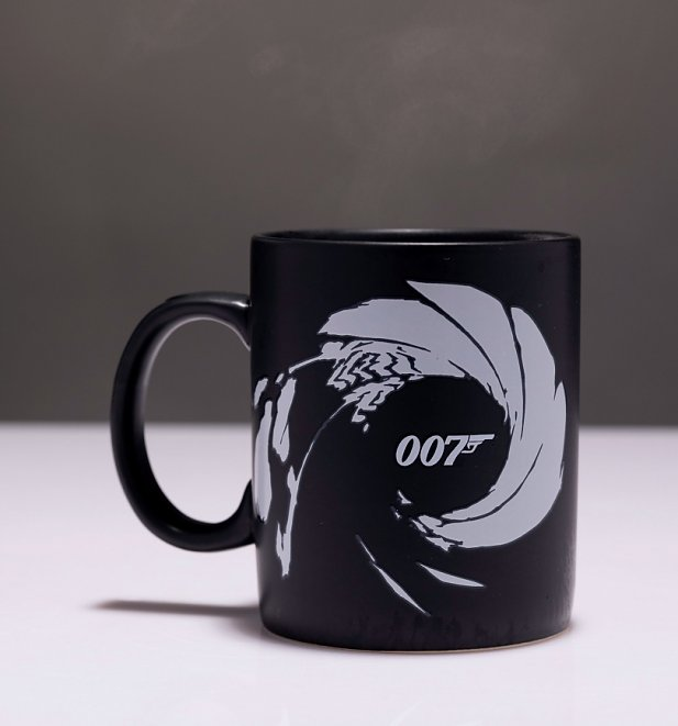 Matte Black James Bond Gun Barrel Heat Change Mug
