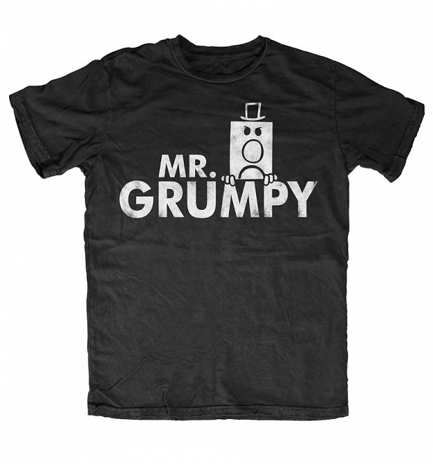 Men's Mr Grumpy Name Black T-Shirt