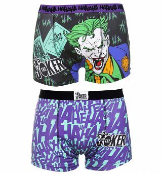 Men's 2pk Joker Boxer Shorts