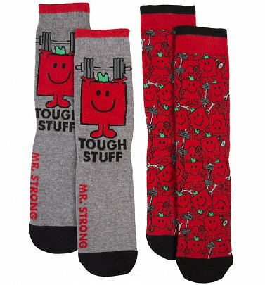 Men's 2pk Mr Strong Socks