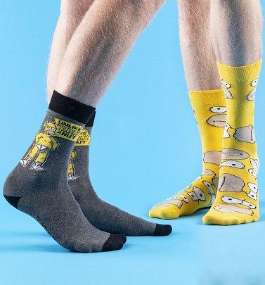 Men's 2pk Simpsons Homer Socks