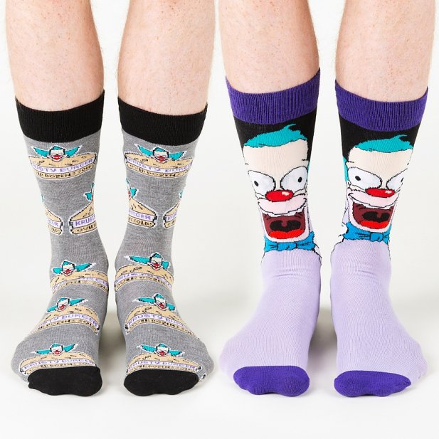 Men's 2pk Simpsons Krusty The Clown Socks