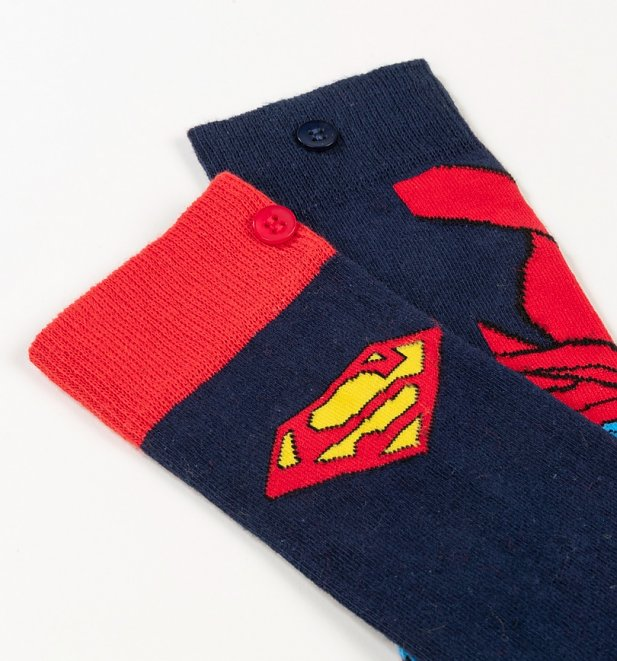 Men's 2pk Superman Character and Logo Socks