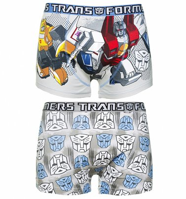 Men's 2pk Transformers Boxer Shorts