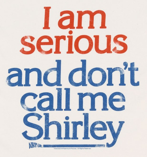Men's Airplane Don't Call Me Shirley Ecru T-Shirt