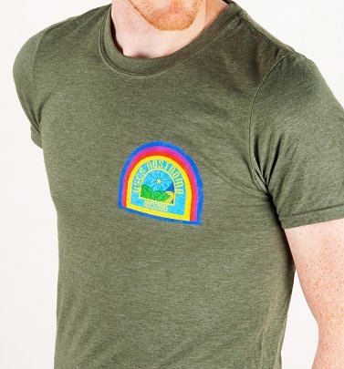 Men's Alien Nostromo Badge Heather Military Green T-Shirt