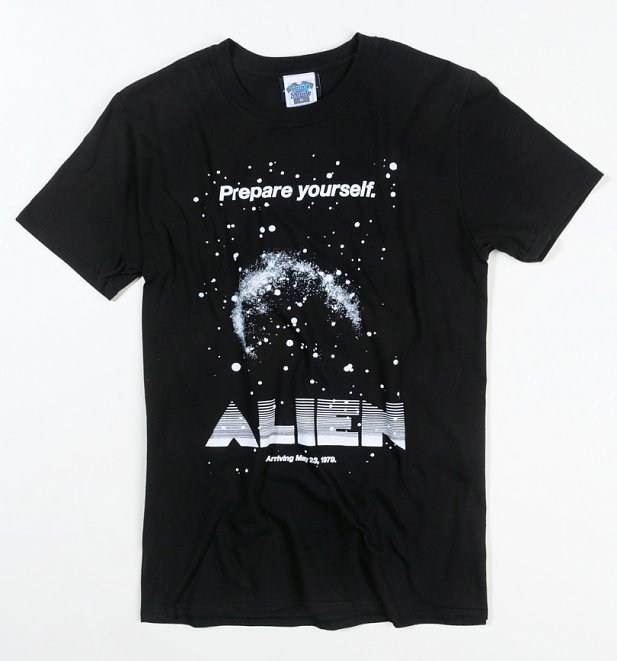Men's Alien Retro Movie Poster Black T-Shirt