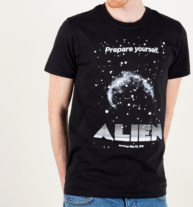 Alien Retro Movie Poster Black T-Shirt
