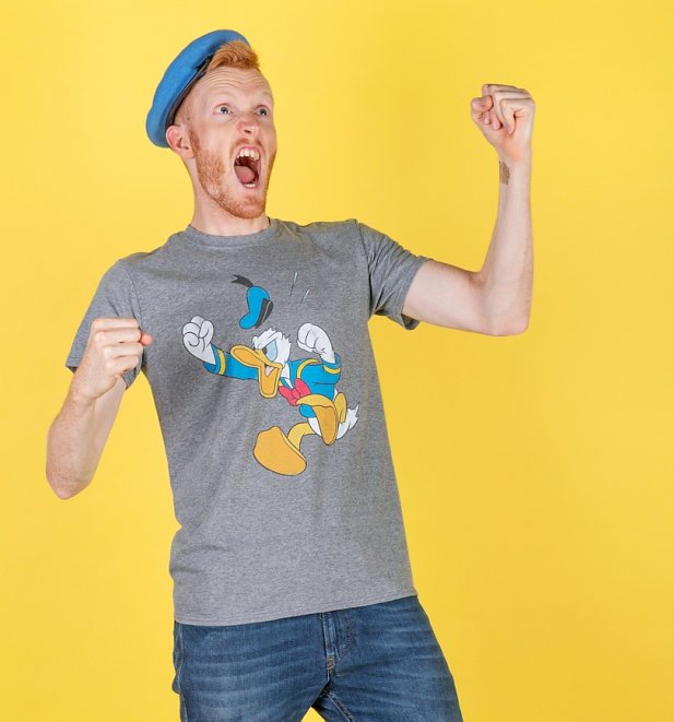 Men's Angry Donald Duck Graphite Heather T-Shirt