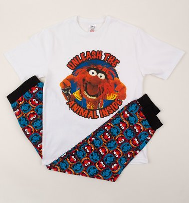 Men's Unleash The Animal Inside The Muppets Slogan Pyjamas