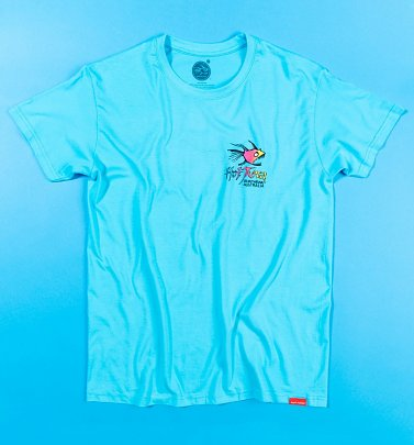 Men's Aqua Blue Hot Tuna T-Shirt with Back Print