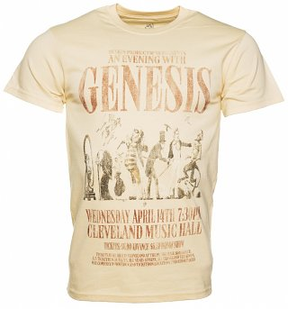 Men's Beige An Evening With Genesis T-Shirt