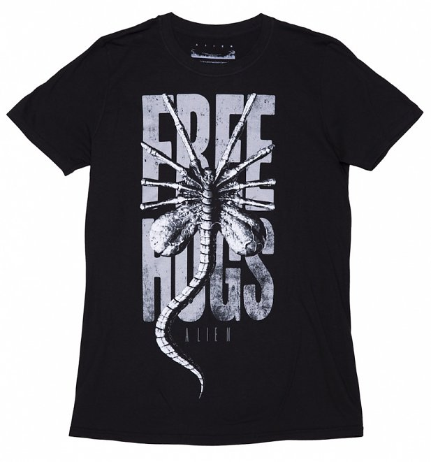 Men's Black Alien Free Hugs T-Shirt