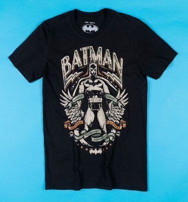 Men's Black Batman Gotham Hero T-shirt