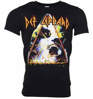 Men's Black Def Leppard Hysteria T-Shirt